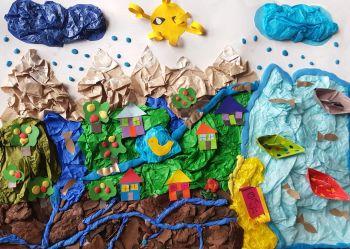 Konkurs plastyczny Woda i przyroda 2018 - 1 miejsce