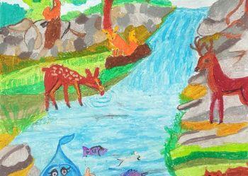 Konkurs plastyczny Woda i przyroda 2018 - 2 miejsce